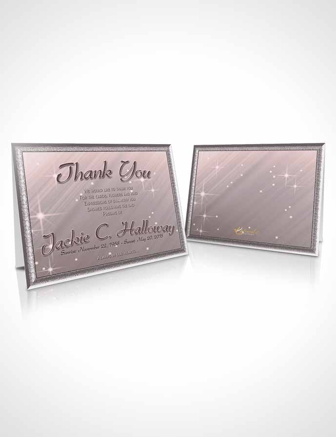 Funeral Thank You Card Template Gentle Fall Serenity