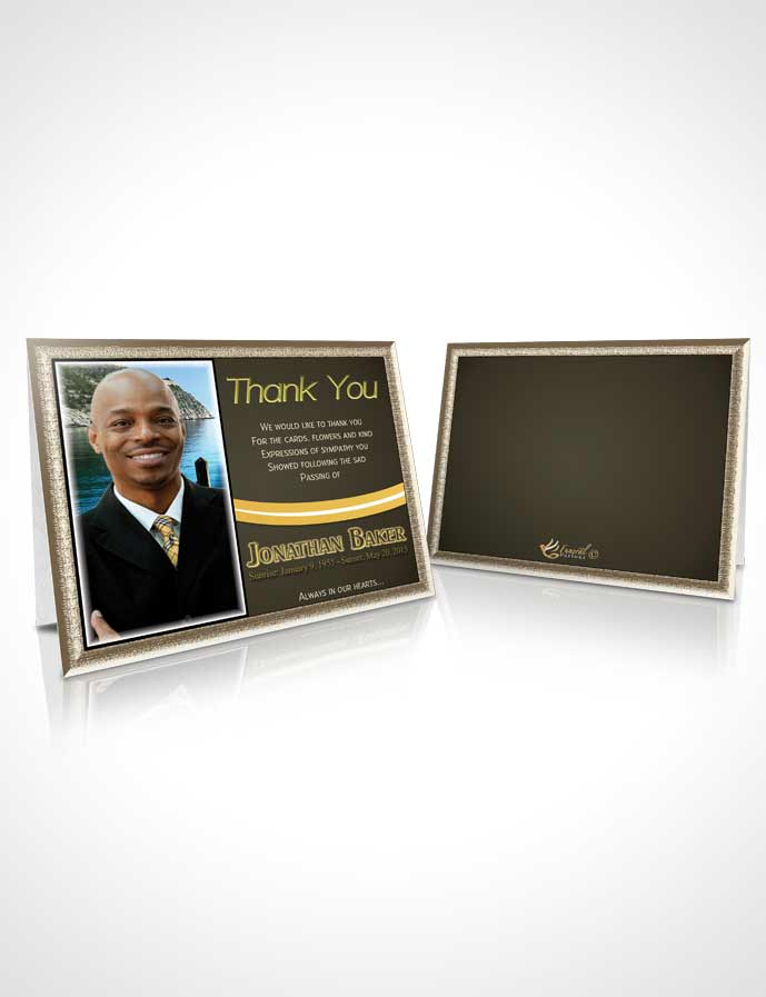 Funeral Thank You Card Template Golden Canyon Journey