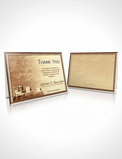 Funeral Thank You Card Template Golden Chemist