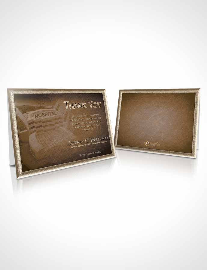 Funeral Thank You Card Template Golden Doctor