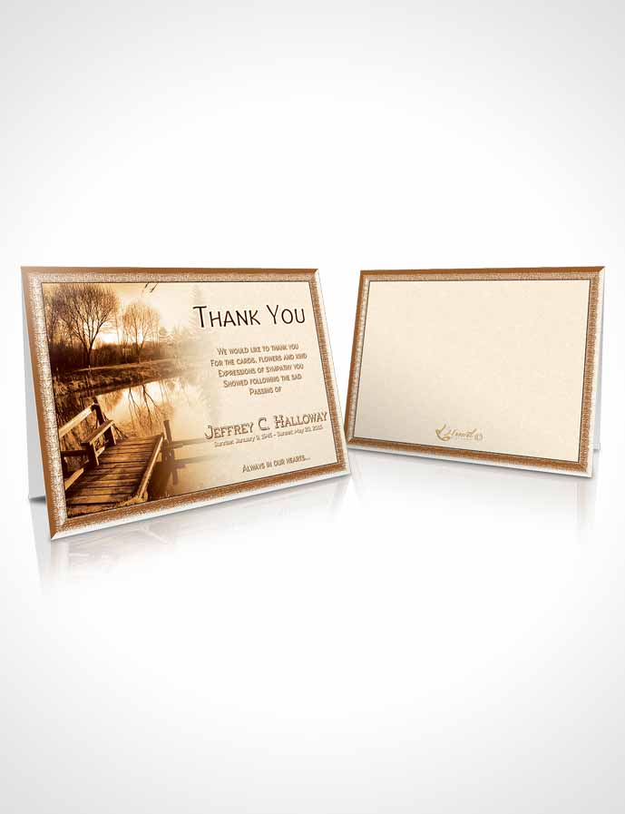 Funeral Thank You Card Template Golden Fall Getaway