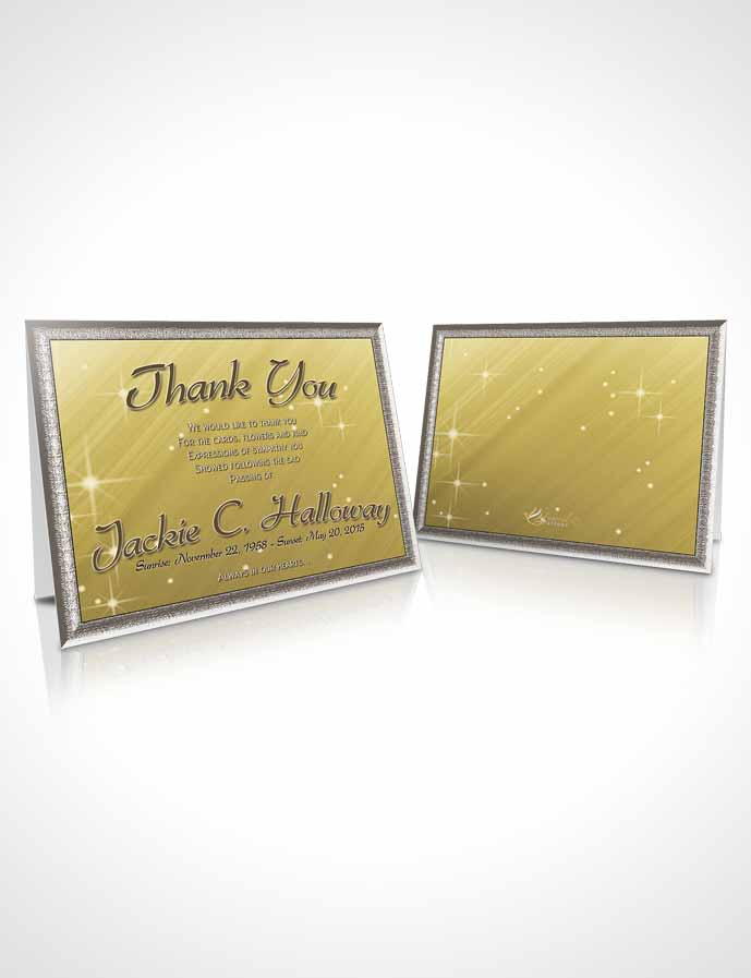 Funeral Thank You Card Template Golden Serenity