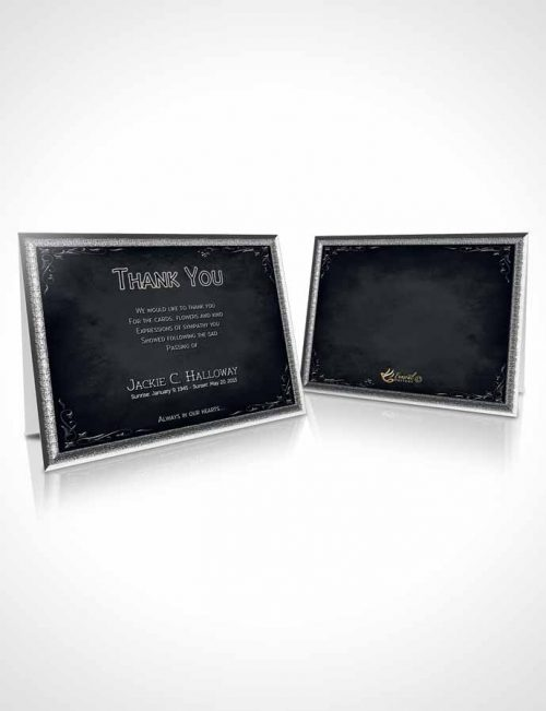 Funeral Thank You Card Template Heavens Touch Deep Serenity
