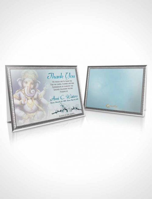 Funeral Thank You Card Template Hinduism Glory Peaceful Ocean