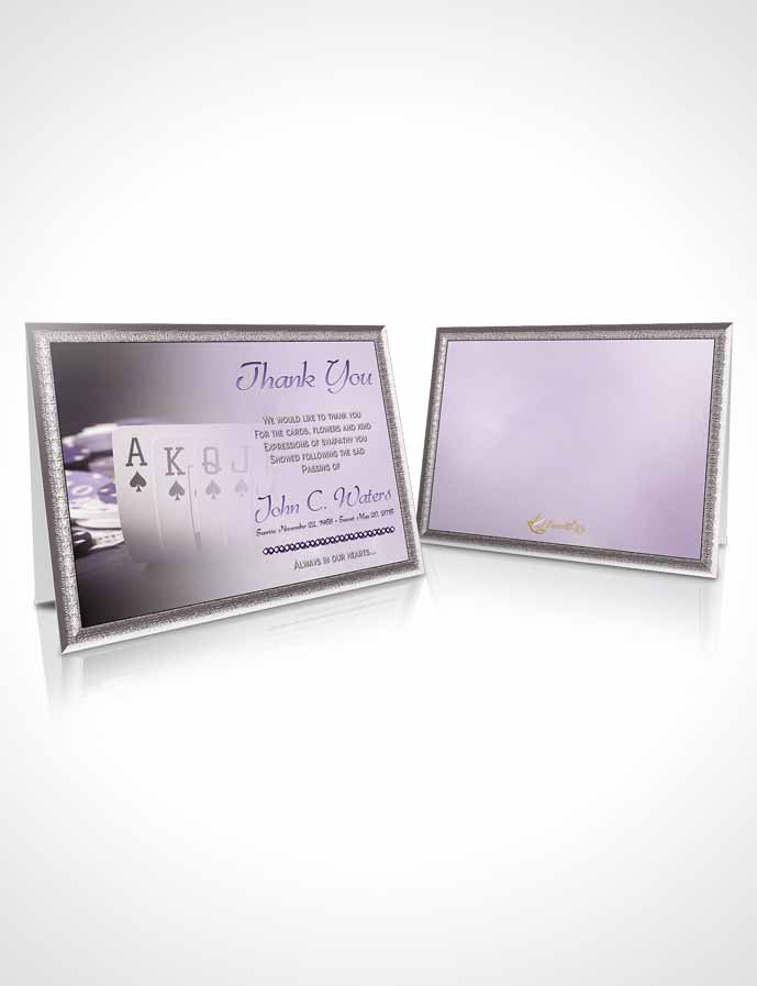 Funeral Thank You Card Template Lavender Cards