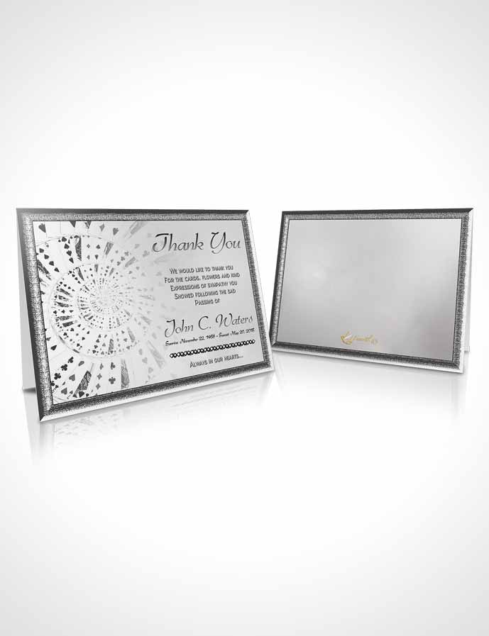 Funeral Thank You Card Template Lets Play Black and White Cards