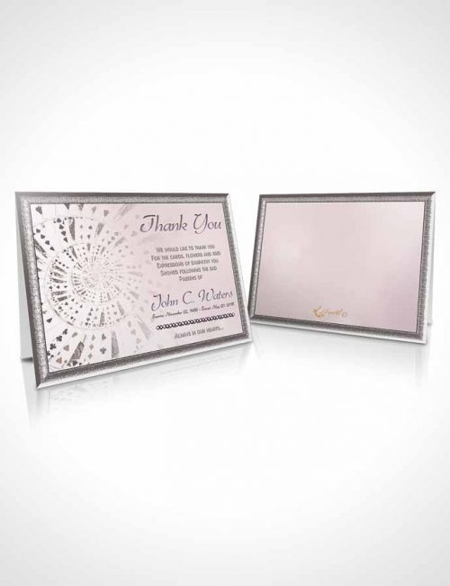 Funeral Thank You Card Template Lets Play Midnight Cards