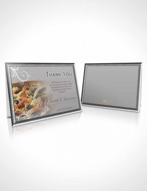 Funeral Thank You Card Template Love of Black and White Cooking