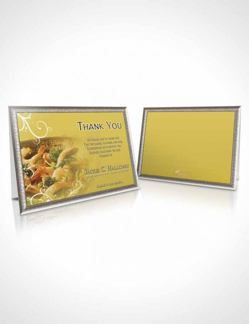 Funeral Thank You Card Template Love of Golden Cooking