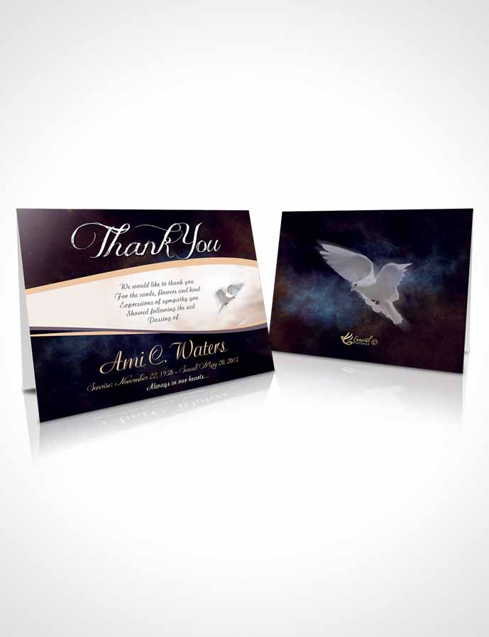 Funeral Thank You Card Template Loving Paradise