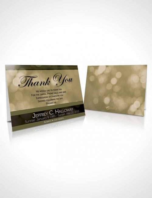 Funeral Thank You Card Template Majestic Emerald Mist Dark