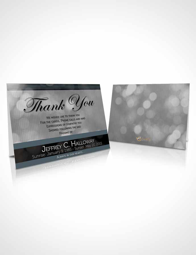 Funeral Thank You Card Template Majestic Gentle Breeze Dark