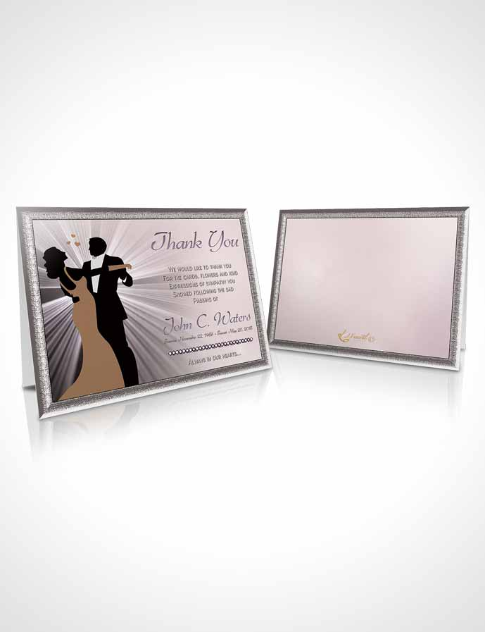 Funeral Thank You Card Template Midnight Dancing Autumn Sky