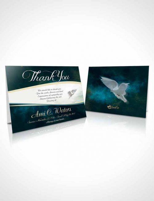 Funeral Thank You Card Template Ocean Paradise