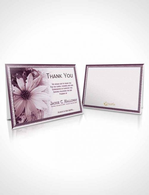 Funeral Thank You Card Template Rubellite Artistic Bouquet