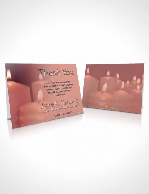 Funeral Thank You Card Template Ruby Candles In The Wind