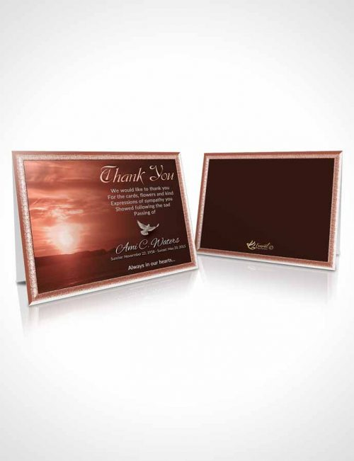 Funeral Thank You Card Template Ruby Higher Power