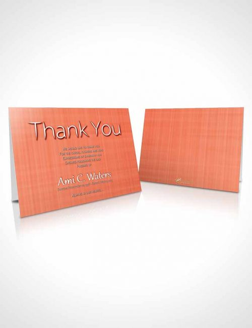 Funeral Thank You Card Template Ruby Simplicity