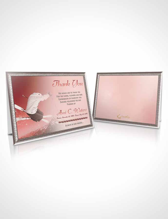 Funeral Thank You Card Template Ruby Ski Jumping