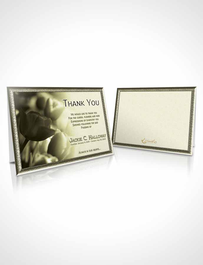 Funeral Thank You Card Template Rustic Roses