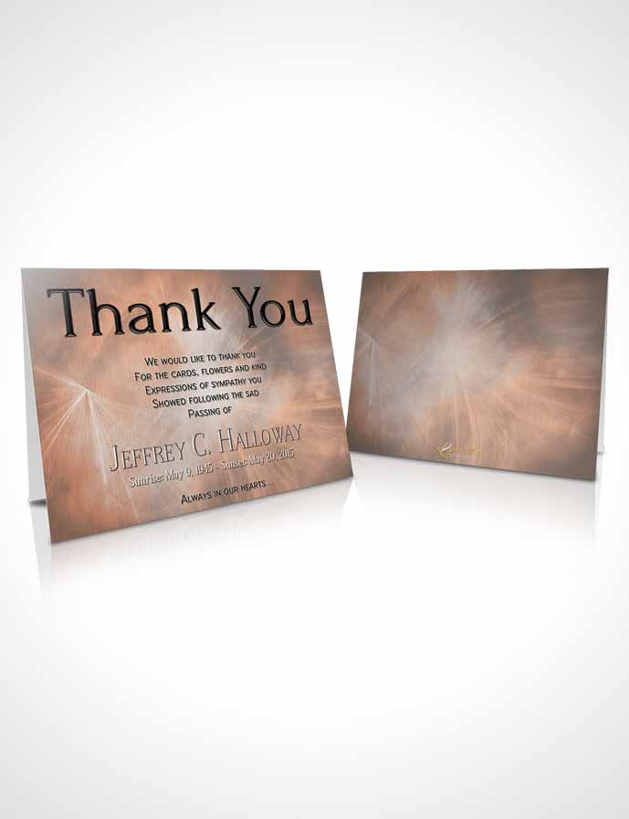 Funeral Thank You Card Template Rustic Universal Lights