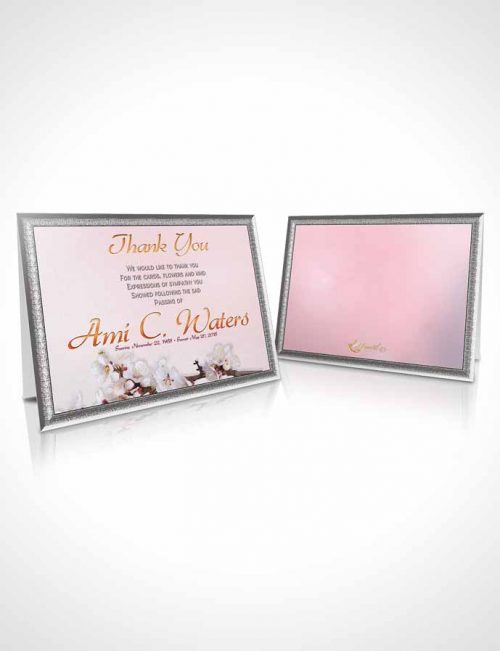 Funeral Thank You Card Template Simple Beauty Early Morning