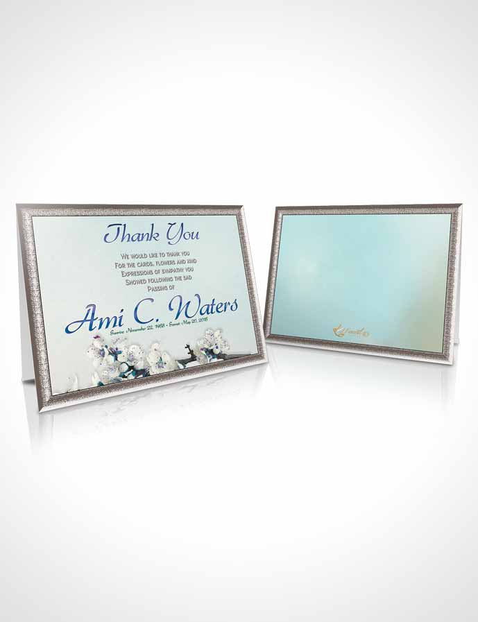 Funeral Thank You Card Template Simple Beauty Evening Peace
