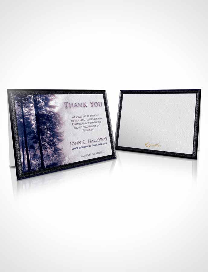 Funeral Thank You Card Template Sky Forest Laughter