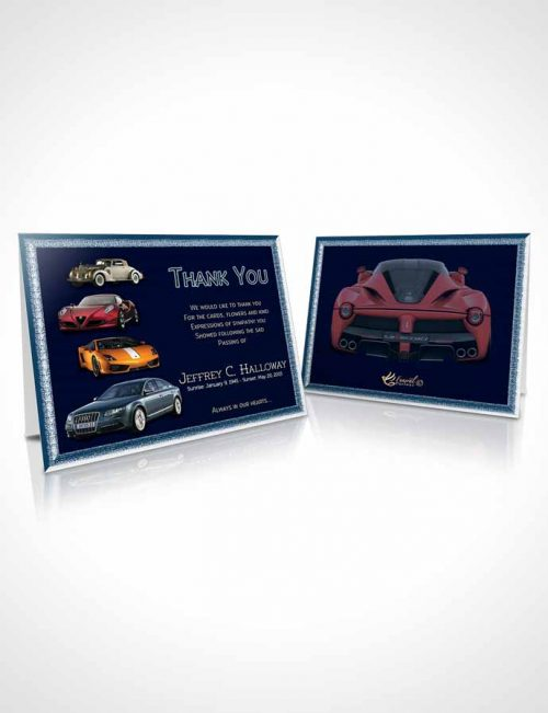 Funeral Thank You Card Template Southern Blue Sky Car Enthusiast