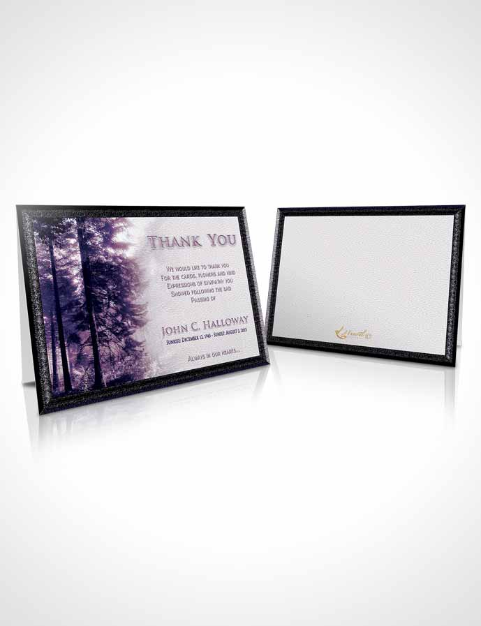 Funeral Thank You Card Template Special Moments Forest Laughter