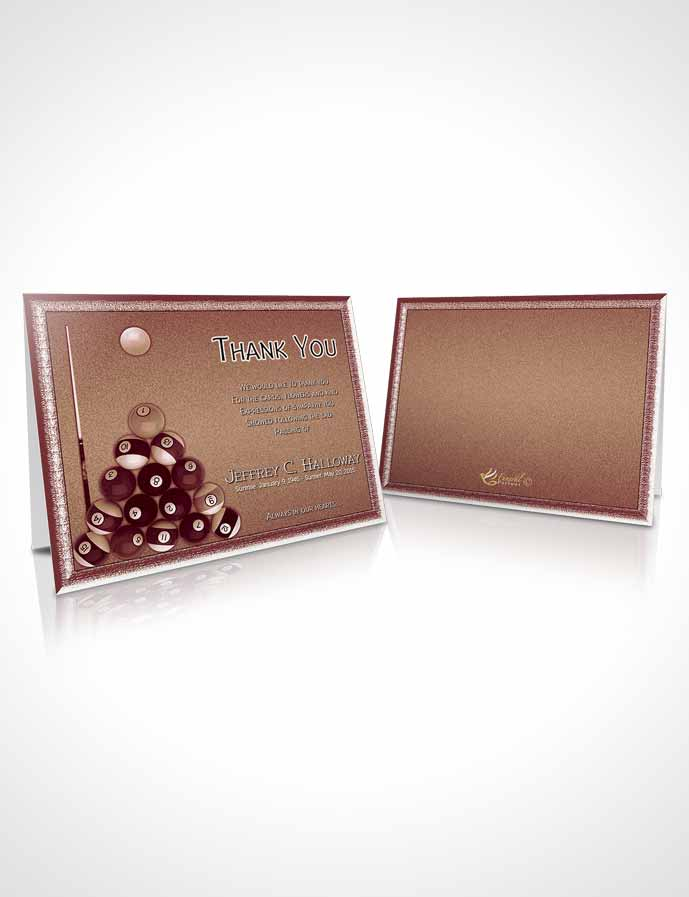 Funeral Thank You Card Template Strawberry Peach Billiards Desire