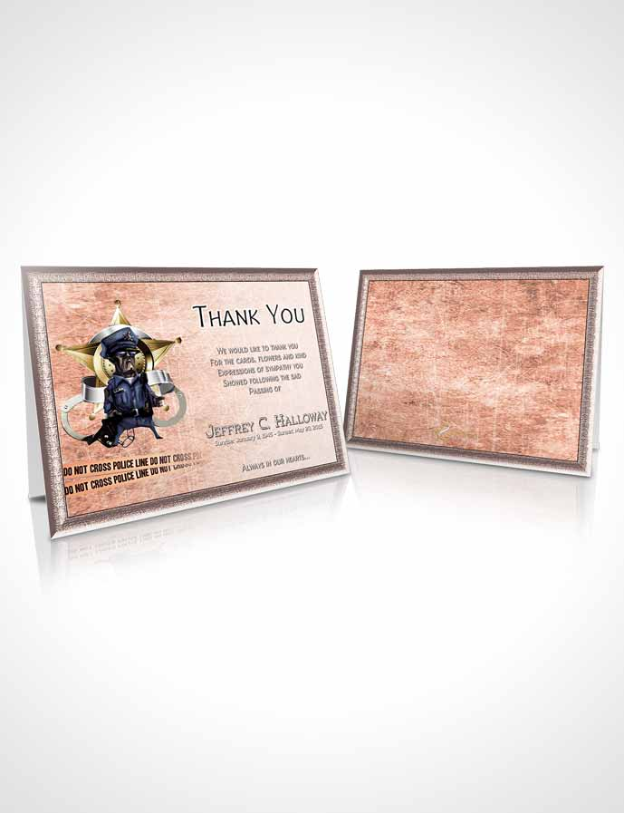 Funeral Thank You Card Template Strawberry Police Enforcement