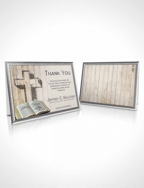 Funeral Thank You Card Template Summer Hardwood Solace