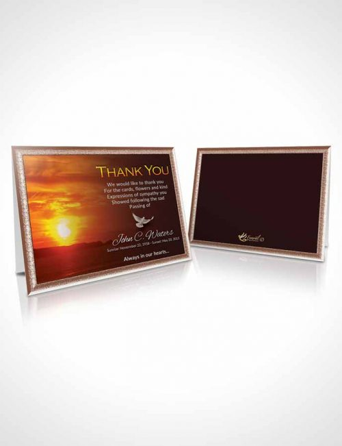 Funeral Thank You Card Template Summer Higher Power