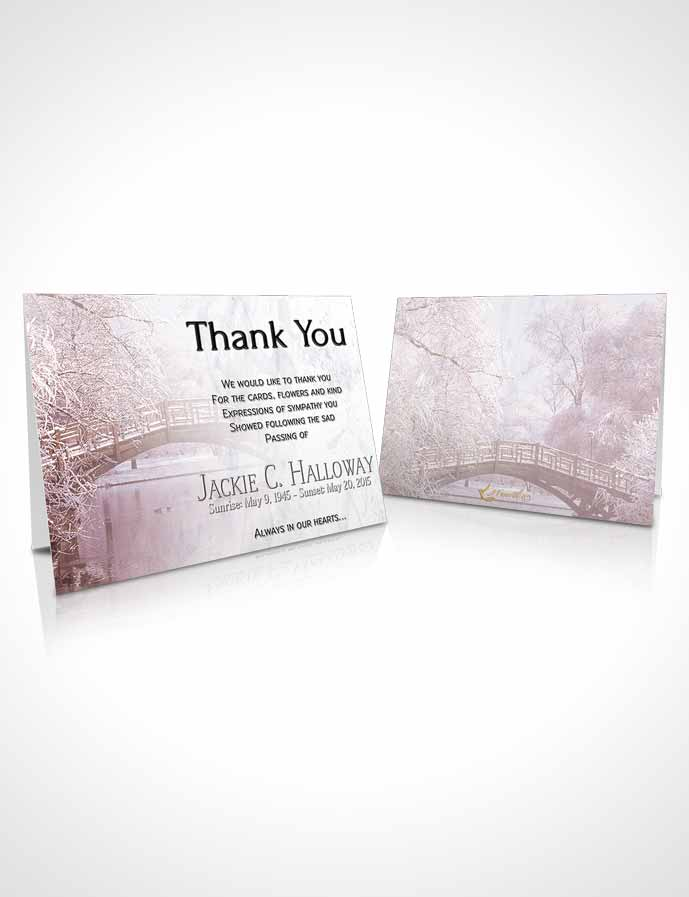 Funeral Thank You Card Template Sunset Winter Paradise