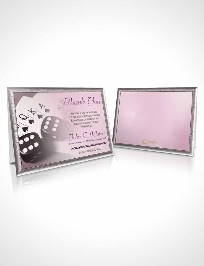 Funeral Thank You Card Template Tender Double Down