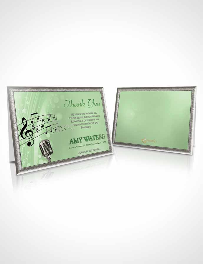 Funeral Thank You Card Template The Sound of Music Emerald Glow