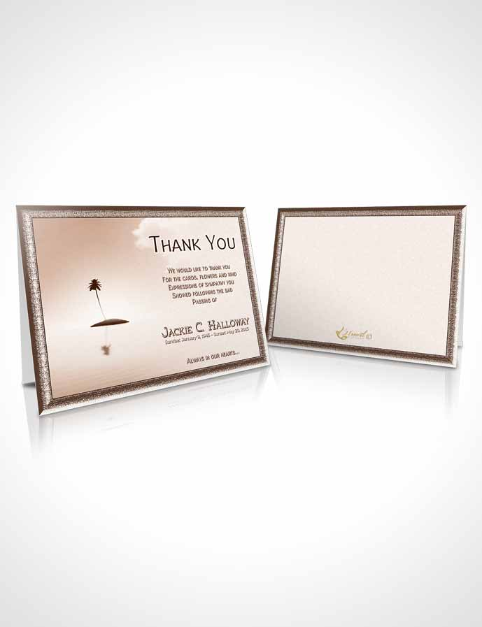 Funeral Thank You Card Template Up in the Peach Sky