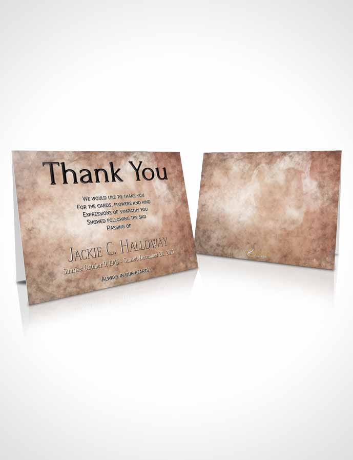 Funeral Thank You Card Template Vintage Harmonics