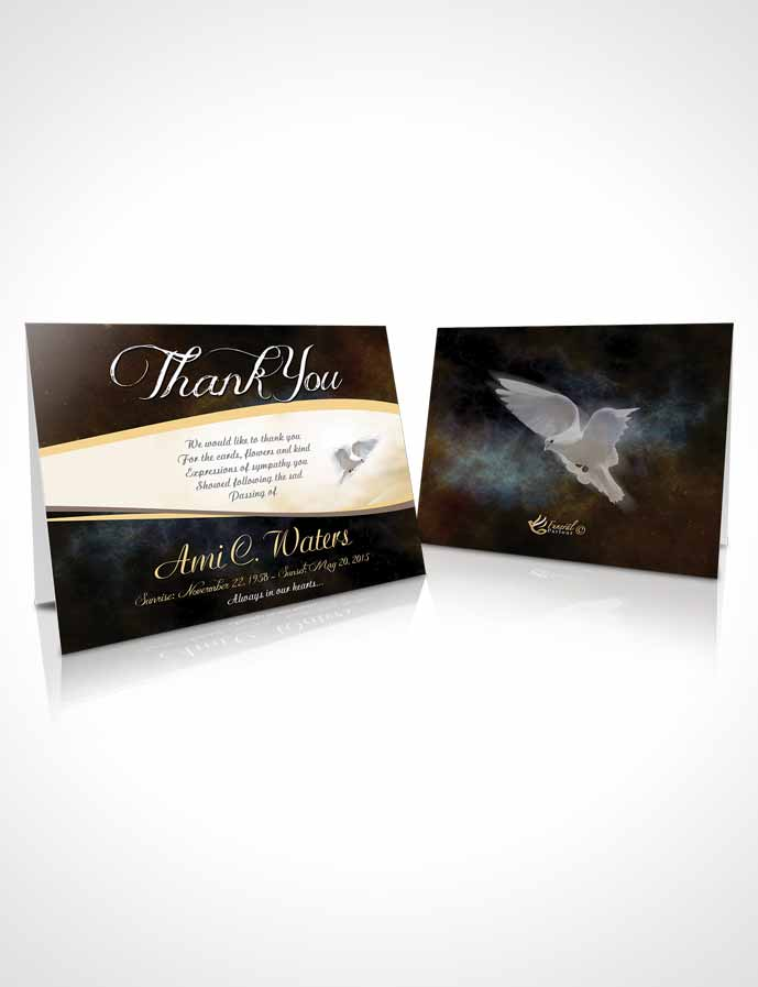 Funeral Thank You Card Template Vintage Paradise