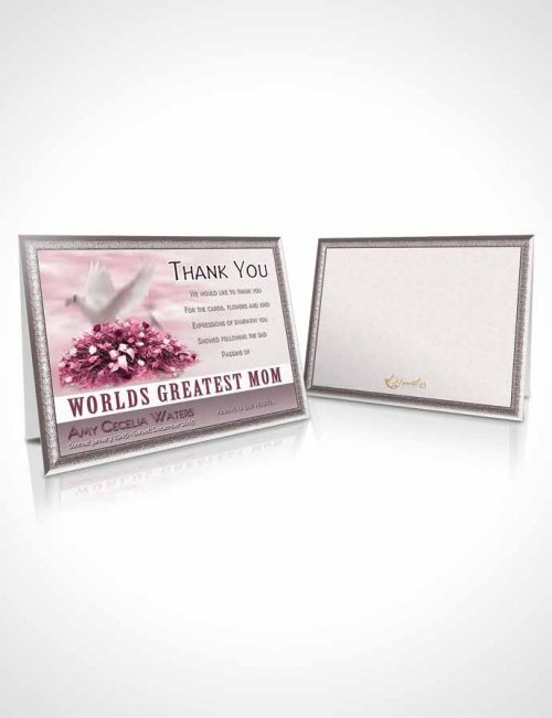 Funeral Thank You Card Template Worlds Greatest Tranquil Mom