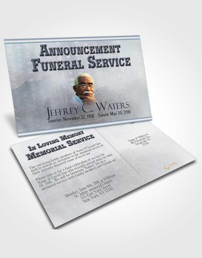 Funeral Announcement Card Template Fall Escape Timeless Love