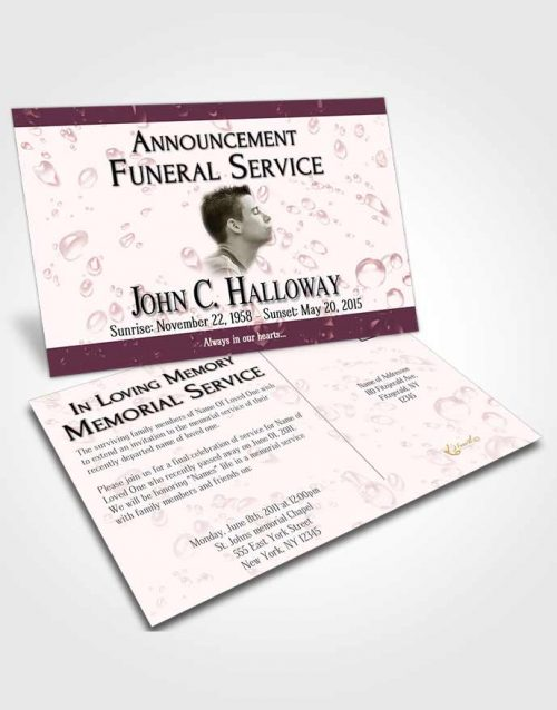 Funeral Announcement Card Template Morning Enchantment