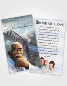 Funeral Prayer Card Template Stairway to Heaven Laughter