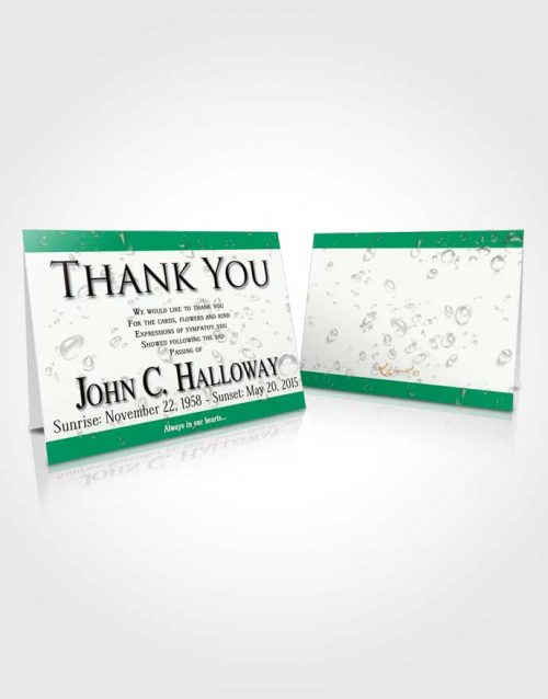 Funeral Thank You Card Template Emerald Enchantment
