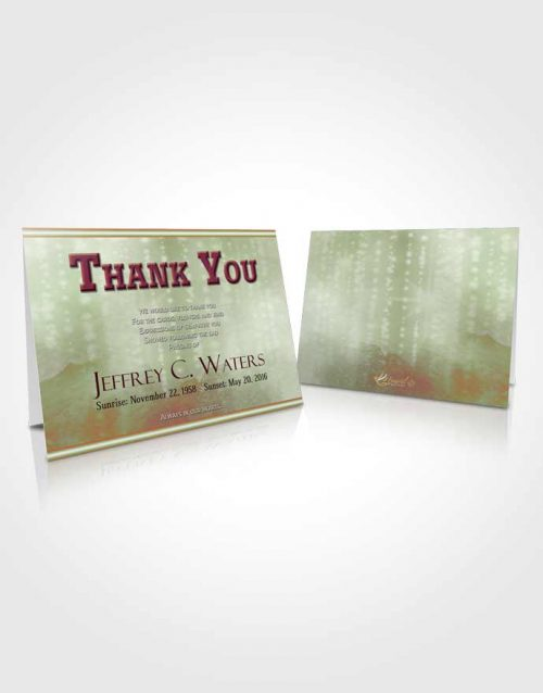 Funeral Thank You Card Template Emerald Faith Timeless Love