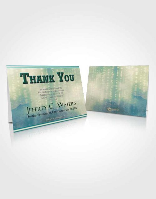 Funeral Thank You Card Template Emerald Ocean Timeless Love
