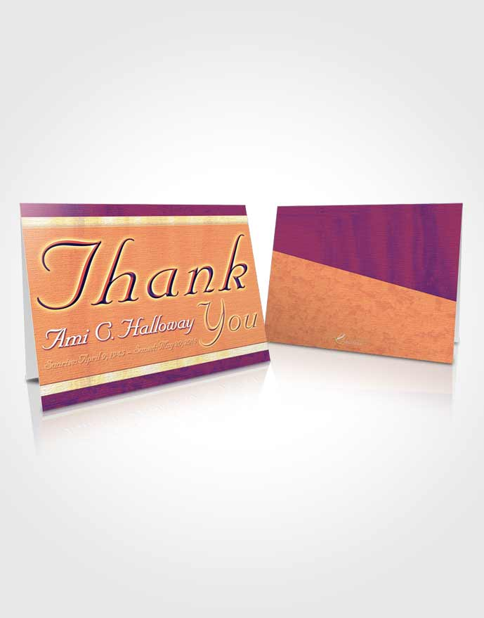 Funeral Thank You Card Template Evening Splendor