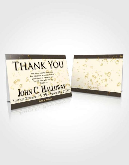 Funeral Thank You Card Template Golden Enchantment