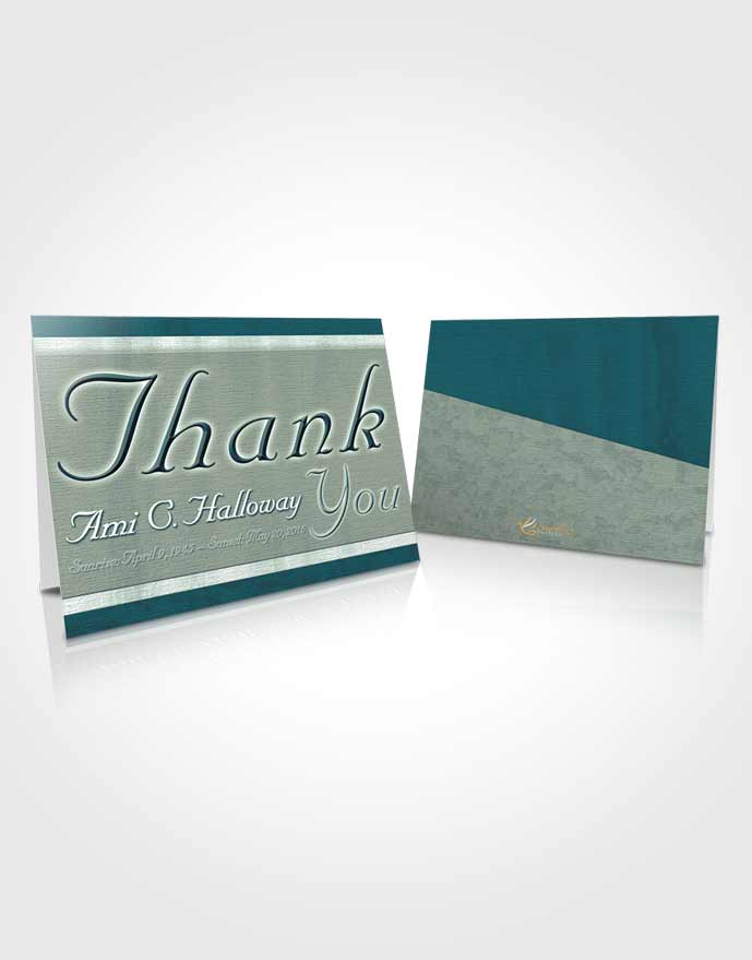 Funeral Thank You Card Template Laughing Splendor